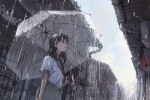 犹如少女可爱的俏皮:《晨雨》
