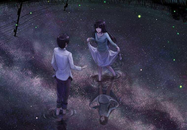 夜、萤火虫和你