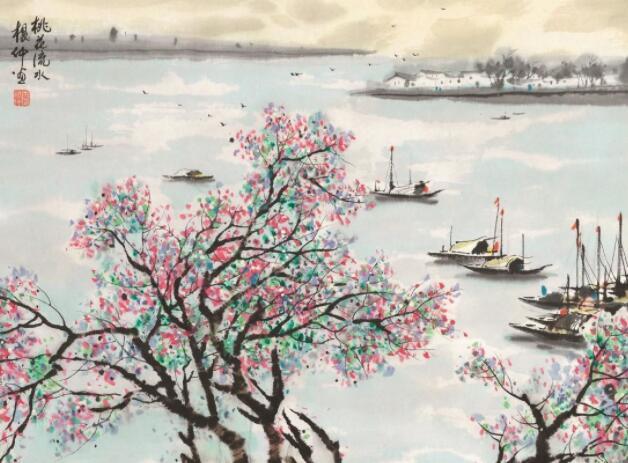 轻柔唯美的音乐:《流水桃花》