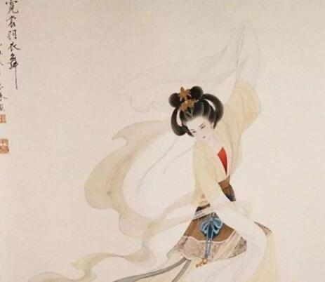 美人善舞,长袖击鼓; 佳足点水,若仙若灵; 大唐盛世,生甚倾之:《霓裳羽衣》